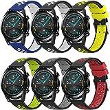 TOPsic Correas para Galaxy Watch 3 45mm/Huawei Watch GT2 46mm Correas, 22mm Universal Correas Repuesto Pulsera para Huawei Watch GT2 46mm/Watch GT 46mm/Watch GT Active/Gear S3/Galaxy Watch 46mm