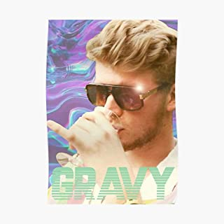 Yung Gravy Poster Small (16.3 x 23.2 in) | Posters Wall Art for College University Dorms, Blank Walls, Bedrooms | Gift Great Cool Trendy Artsy Fun Awesome Present