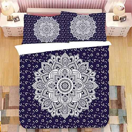 Bedclothes-Blanket Funda nórdica 3D 220x240,Conjunto de Tres Piezas de Impresiones Digitales 3D-8_210 * 240 cm