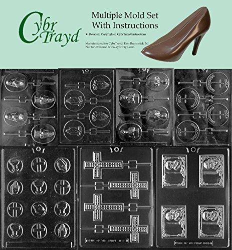 Purchase Cybrtrayd 7-Piece Communion Chocolate Molds