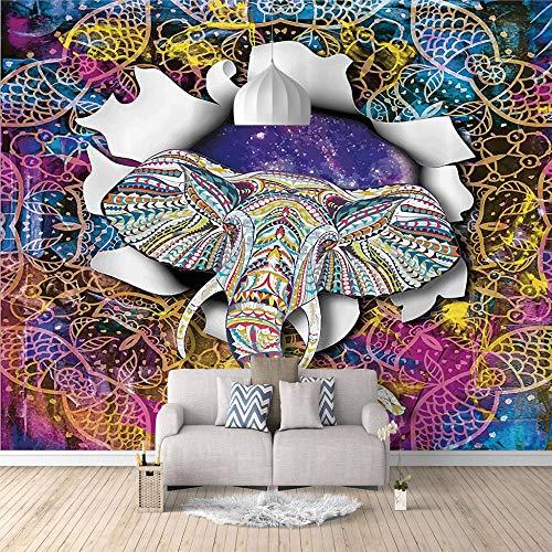 Posters Para Pared Elefante En El Cielo Estrellado No-Trenzado Salón Dormitorio Despacho Pasillo Decoración Murales Decoración De Paredes Moderna - 200 X 150 Cm