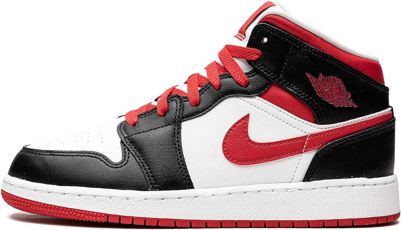 Jordan Youth Jordan 1 Mid GS 554725 016 Very Berry - Size 6Y
