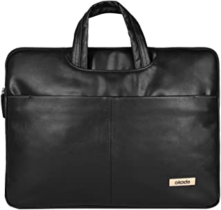 Black PU Leather 13.3 inch Laptop, Notebook, MacBook Pro, MacBook Air Case Briefcase Bag Pouch Sleeve for Apple MacBook MK4M2LL,A, Apple MacBook Air MJVM2LL,A, Apple iBook G4 A1133