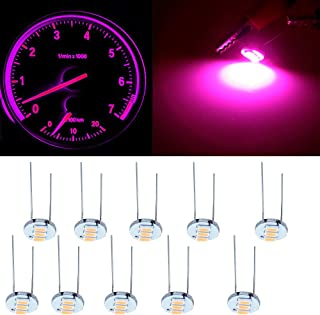 cciyu 4.7mm-12v Car Purple Mini Bulbs Lamps Indicator Cluster Speedometer Backlight Lighting for GM GMC,10Pcs