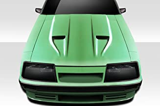 Brightt Duraflex ED-PSR-664 STM Hood - 1 Piece Body Kit - Compatible With Mustang 1983-1986