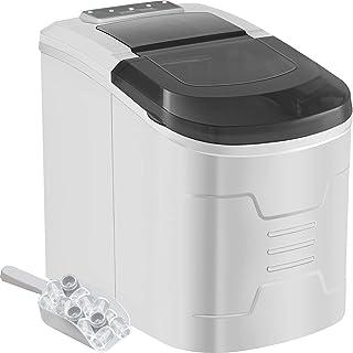 Machabeau Machine à Glaçons Portable 12kg par 24H Mini Commercial Ice Maker avec LCD (noir-argenté)