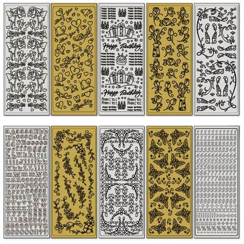 Relief-Sticker, Ganzjahres-Set, 10 Blatt - CFO1210