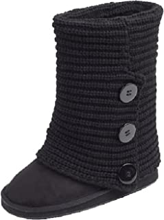 Women's Faux Suede Boot with Rib-Knit Sweater (Crochet) Exterior