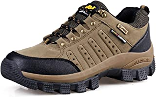 BMTH Hiking Boots for Mens Womens Unisex Suede Leather Outdoor Waterproof Backpacking Shoes