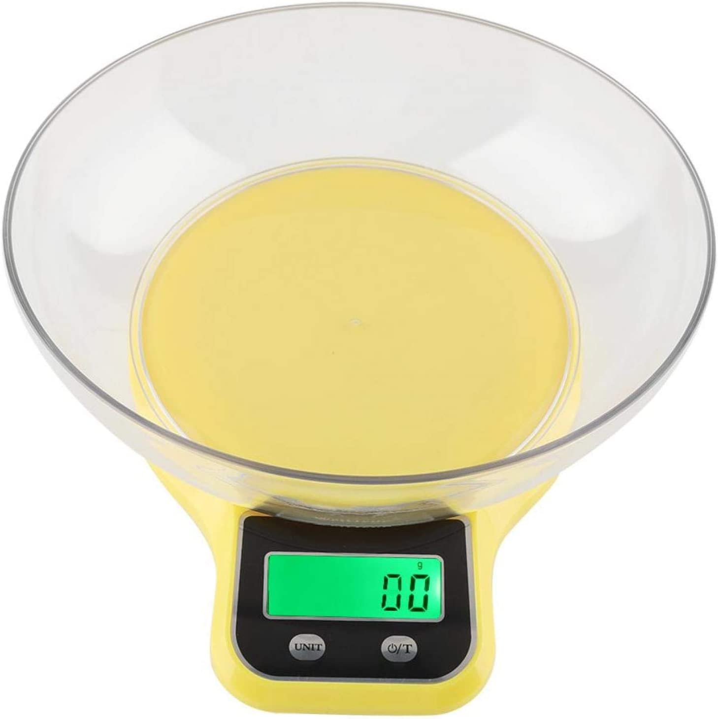 Digital Food Scale - WH-B21LW Kitchen Food Scale Digital Cooking Multifunction Weight Scale with Bowl(Yellow)