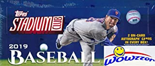 2019 Topps Stadium Club Baseball Factory Sealed HOBBY Box with 2 AUTOGRAPHS & 128 Cards! Look for Autos of Vladimir Guerrero Jr, Mike Trout, Pete Alonso, Derek Jeter, Sandy Koufax & Many More! WOWZZER