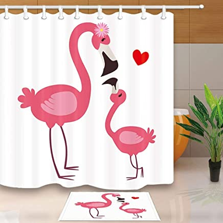 Pet Chien portrait rideaux de douche salle de bain Imperméable Tissu De Polyester 12 Crochets