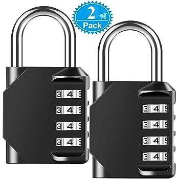 2-Pack Combination Lock BeskooHome Security Padlock Weather Proof Padlock