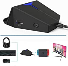 DarkWalker Keyboard and Mouse Adapter with Headset Jack for PS4, Xbox One, Switch, PS3, PC