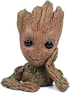 DUCHIC Guardians of The Galaxy Flowerpot Groot Pen Pot Tree Man Pens Holder or Flower Pot Potted Holder