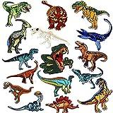 Parches Dinosaurios, Mwoot 16-PACK Parches De Dinosaurios Parches Ropa Termoadhesivos Bricolaje Hierro-en Parches de Ropa para T-shirt Jeans Ropa Bolsas