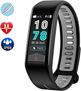 Eastred Fitness Tracker 2019 New HR Activity Tracker Watch with Heart Rate Monitor Waterproof Smart Fitness Band with Step Counter Body Temperature Measurement Pedometer Tracker for Women Kids Men