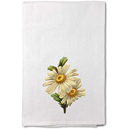 Amazon Com Style In Print Custom Decor Flour Kitchen Towels Daisy Vintage Look B Botanical Flowers Botanical Flowers Flowers Cleaning Supplies Dish Towels Design Only Home Kitchen