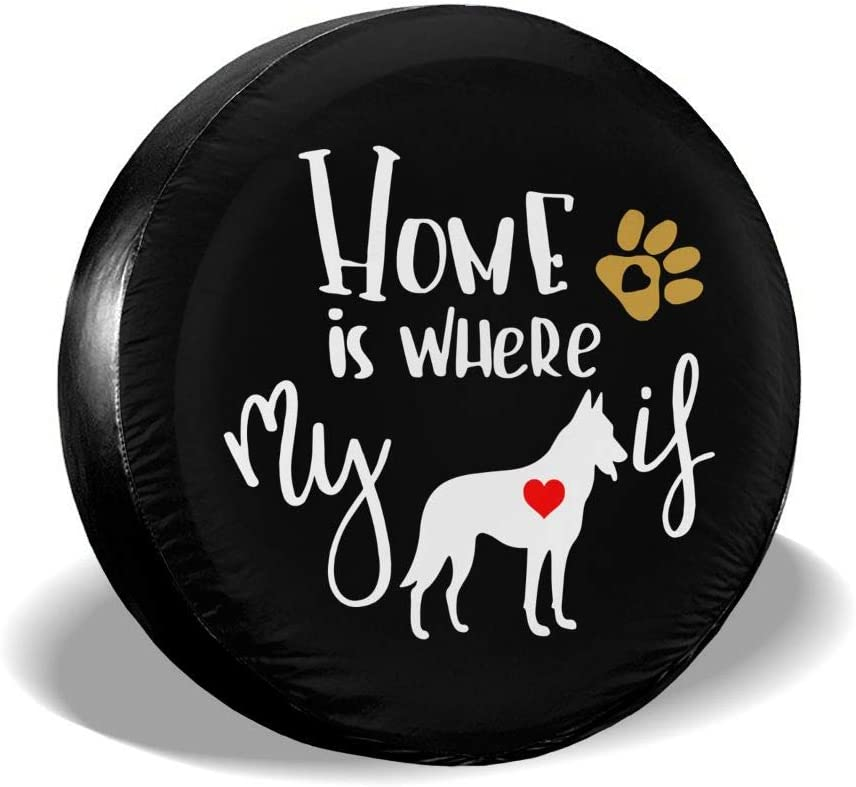 Bosb-00 Home is Where My Dog is Spare Tire Wheel Cover for Trailer Jeep RV Ect.
