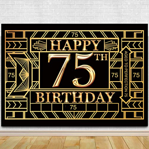 75th Birthday Photography Backdrop