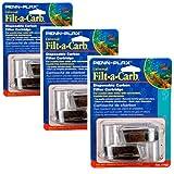 Penn-Plax Filt-a-Carb Universal Carbon Undergravel Filter Cartridge, 3 Packs of 2 each