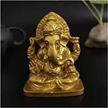 Ganesha Statue Buddha Elephant God Sculpture Ganesh Figurines Bronze Resin Craft for Home Garden Decoration Buddha Statues...