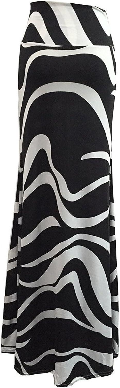 Bgoodgirl Women's Fashion Striped Long Skirt Maxi High Waist FloorLength Skirt