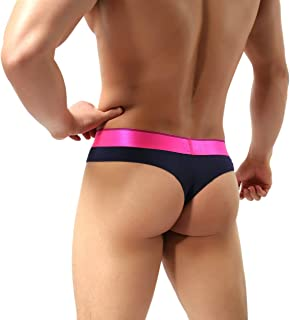 MuscleMate Hot Men's Thong Underwear, Men's Butt-Flaunting Thong Undie, Mens Underwear Showing Off Bubble Butt