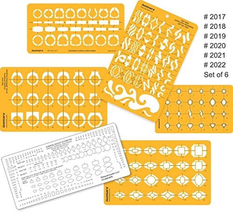 FineArt Schmuck Ringe Zeichnung Schablone (6er Set) B07GC12W6B | | | Auf Verkauf  92d4a8