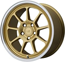 MOTEGI MR135 Gold Center Machined Lip Wheel Chromium (hexavalent compounds) (18 x 9.5 inches /5 x 72 mm, 45 mm Offset)