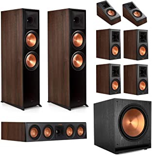 Klipsch RP-8000F 7.1.2 Dolby Atmos Home Theater System - Walnut