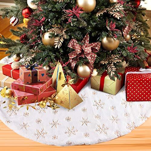 Aitsite Weihnachtsbaum Decke, Weihnachtsbaum Rock Plüsch, Tannenbaum Unterlage Tannenbaum Decke Weihnachtsbaumdecke Rund Christbaumdecke(122cm)