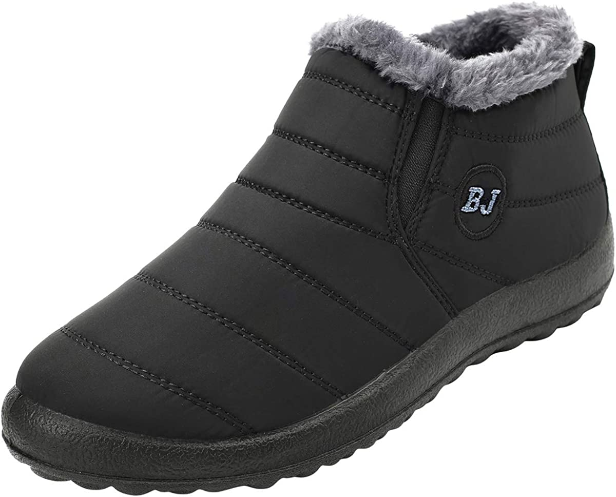 L-RUN Winter Boots for Women Slip Fort Worth Mall Ligh on safety Men's Ankle Snow