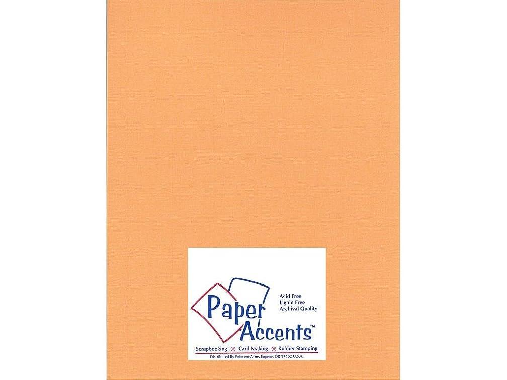 Accent Design Paper Accents Cdstk Glimmer 8.5x11 80# Carrot Stick
