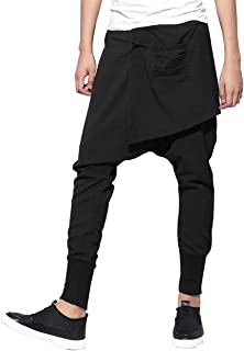 Men Casual Elastic Waist Harem Pants Joggers Trousers GYM109