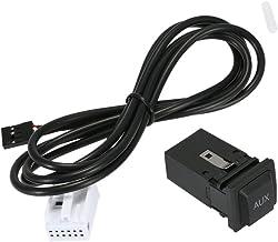 KKmoon Auto AUX Modo dIngresso Cavo per iPod Telefono MP3 3,5mm AUX-in Audio Musica Cavo dellAdattatore con Connettore a 12 Pin per OPEL Zafira Tigra