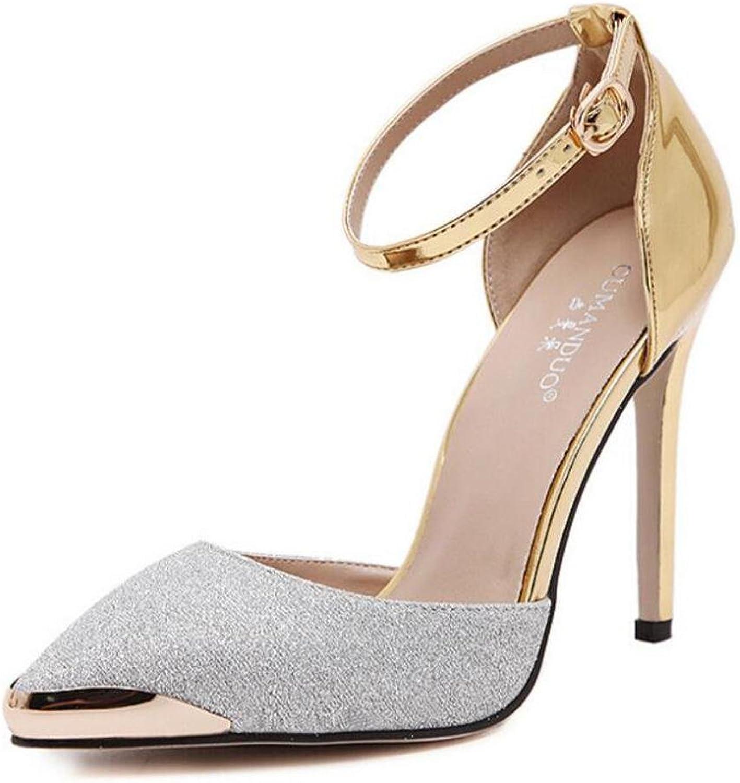 L@YC Frauen High Heels Metall Spitz Wort Wölbung 11cm Kleid Tanz Sandalen  | Am praktischsten