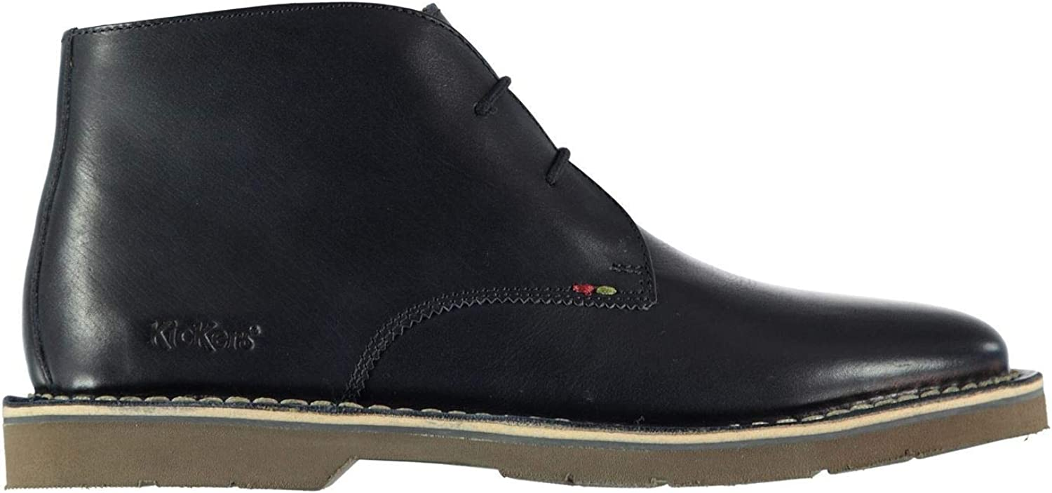 Kickers Kanning Plus Mid Top shoes Mens Navy bluee Lace Up Formal Footwear