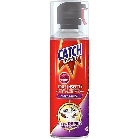 Catch Expert Volants et Rampants – Aérosol (400mL) – Insecticide Tous Insectes – Mouches Moustiques Cafards Araignées