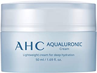 Aesthetic Hydration Cosmetics AHC Aqualuronic Face Cream for Dehydrated Skin Triple Hyaluronic Acid Korean Skincare 1.69 oz