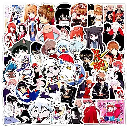 SHUYE Gintama Graffiti Stickers Maleta Impermeable Laptop Scooter Refrigerador Pegatinas 50 Hojas