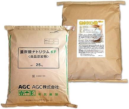 AGC製 重曹 25kg + 無水 クエン酸 25kg セット [02] 【同梱不可】国産重曹 NICHIGA(ニチガ)
