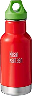 Klean Kanteen 12oz Kid Kanteen Classic Stainless Steel Water Bottle with Klean Coat, Double Wall Vacuum Insulated and Leak Proof Loop Cap (New 2018)