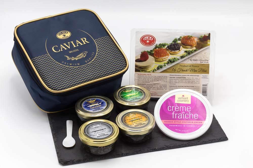 OLMA Majestic Caviar Gift Delicious Set - Large special price Premium Columbus Mall