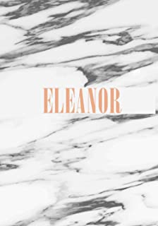 Eleanor: Personalised Journal for Women and Girls, Lined Notebook Diary for Girls, Monogram Marble cover with Personalized...