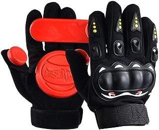 acoser Longboard Downhill deslizante guantes guantes de Skate con seis Slide discos.