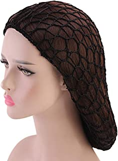Net Crocheted Practical Ultra-fine Washable DIY Hairnet Soft Rayon Ornaments Hair Net Snoods(Black)