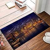 QDYLM Alfombra de baño de Microfibra esponjosa,La atracción Debe Mover el Cielo Ver cuándo Hipster Vida Nocturna Visitar New York Design alfombras de Ducha de Suave Absorbente de Agua, 50x80 cm
