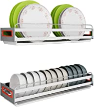 Kitchen Storage Rack Wall-Mounted Dish   304 Stainless Steel with Separate Drain Pan for Kitchen, Storage