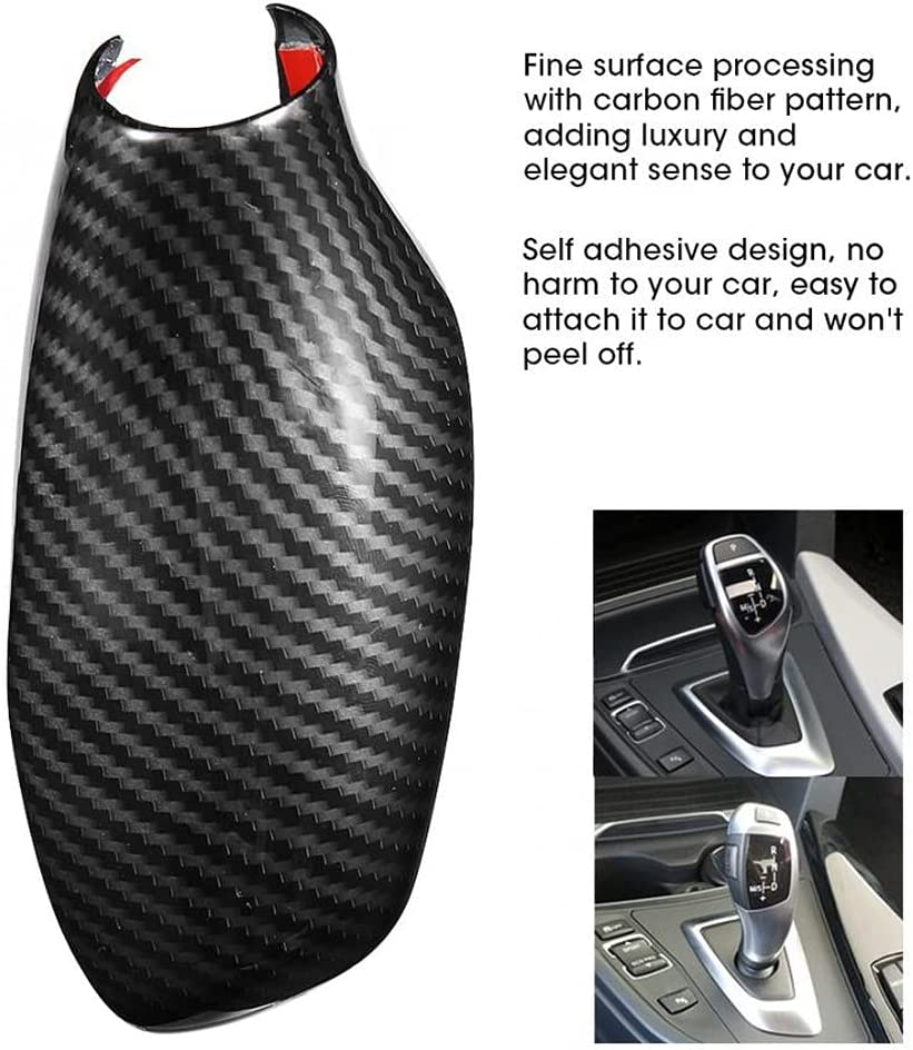 Carbon Fiber Pattern ABS free shipping Gear Shift Cover Sticker Complete Free Shipping Knob Deco Trim